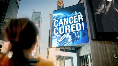 """Manipulated image: """"Cancer Cured!"""" You may see this billboard sooner than you think. The Leukemia & Lymphoma Society is funding life saving research and breakthrough treatments. Someday is Today. (PRNewsFoto/The Leukemia & Lymphoma Society) (PRNewsFoto/THE LEUKEMIA & LYMPHOMA SOCIETY)"""