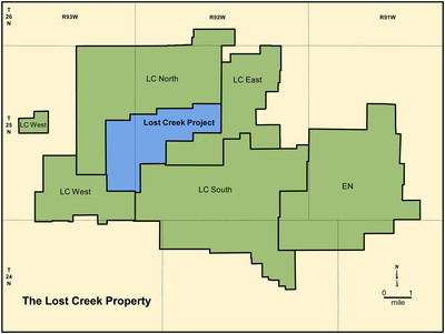 U-Energy's Lost Creek Property.  (PRNewsFoto/Ur-Energy Inc.)