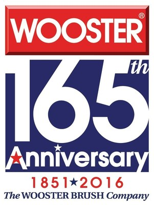 The Wooster Brush Company's 165th Anniversary Logo.