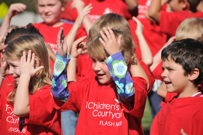 "More than 75,000 children and teachers participated in a simultaneous nationwide rendition of ""Head, Shoulders, Knees and Toes"" Thursday afternoon to celebrate the official debut of Learning Care Group's ""Grow Fit"" program encouraging balanced nutrition practices and physical activity. The program will reach more than 900 early childhood education centers nationwide - including Childtime, The Children's Courtyard, Montessori Unlimited, La Petite Academy and Tutor Time schools.  (PRNewsFoto/Learning Care Group, Inc.)"