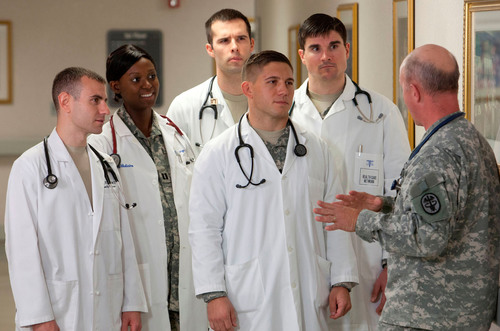 Army Medical Students March to a Different Drum
