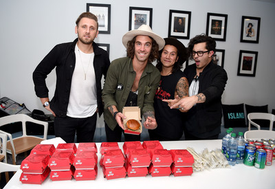 Wendy's teamed up with indie rock band American Authors to celebrate its new, limited-time Bacon Mozzarella Burger and surprise super fans with an intimate live performance. The band joined fans as Wendy's treated everyone to Bacon Mozzarella Burgers following the performance on Thursday, June 2, in New York City.