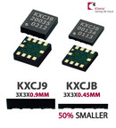 Kionix's full functional tri-axis accelerometers KX112 and KXCJB are the thinnest in the industry and suitable for mobile, wearable, health/medical and light-industrial applications.