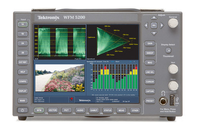 Beginning with the production at the sporting venues in Russia, Tektronix Waveform Monitors will provide for on-site camera set up, and verifying gamut signal quality and integrity. To verify the compressed video signal quality at each end of the transmission, NBC Olympics will use Tektronix Sentry family of Video Quality Monitors which have the unique ability to detect QoE artifacts on hundreds of IP video streams on 1G and 10G transmission paths. (PRNewsFoto/Tektronix)