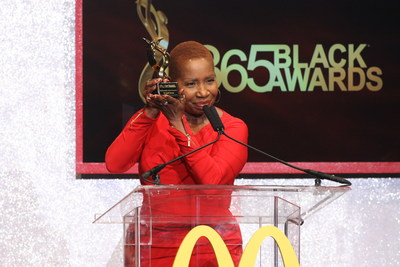 NEW ORLEANS - (July 5, 2014) – The always inspirational Iyanla Vanzant shined on the stage as she accepted an award for her service to the community at the 11th annual McDonald's 365Black Awards at the New Orleans Theater July 5. McDonald's 365Black Awards are given annually to salute outstanding individuals who are committed to making positive contributions that strengthen the African-American community.
