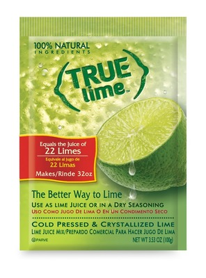 True Lime Juice Mix provides the fresh-squeezed taste of 22 limes.  (PRNewsFoto/True Citrus)