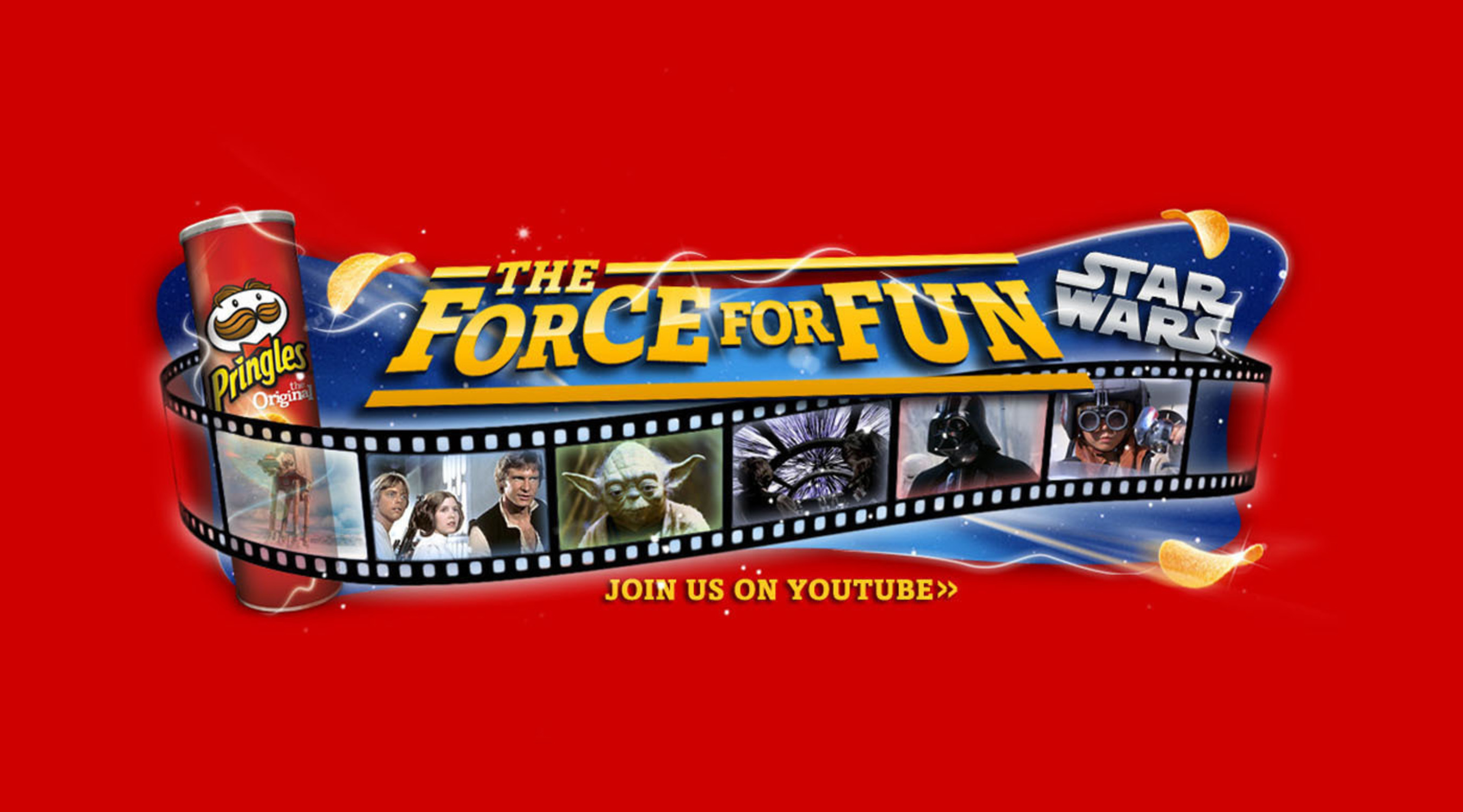 """Visit Youtube.com/Pringles to watch the videos from the Pringles and Star Wars """"The Force For Fun"""" promotion.  (PRNewsFoto/Kellogg Company)"""
