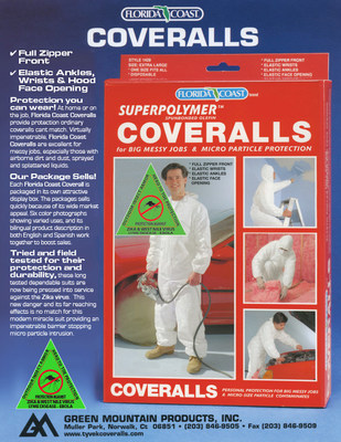 Green Mountain Products Introduces Superpolymer Suit to Provide Head-to-Toe Protection Against Zika Virus and Mosquito-Borne Illnesses