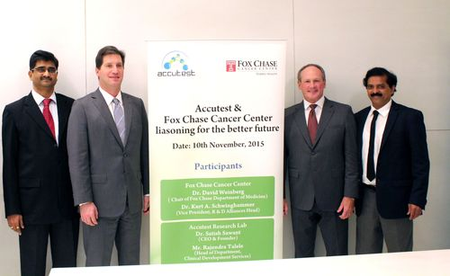 Accutest and Fox Chase Cancer Center - Temple Health Form Strategic Partnership on Clinical Trials