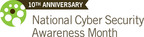 NCSAM 10th Anniversary.  (PRNewsFoto/The National Cyber Security Alliance)