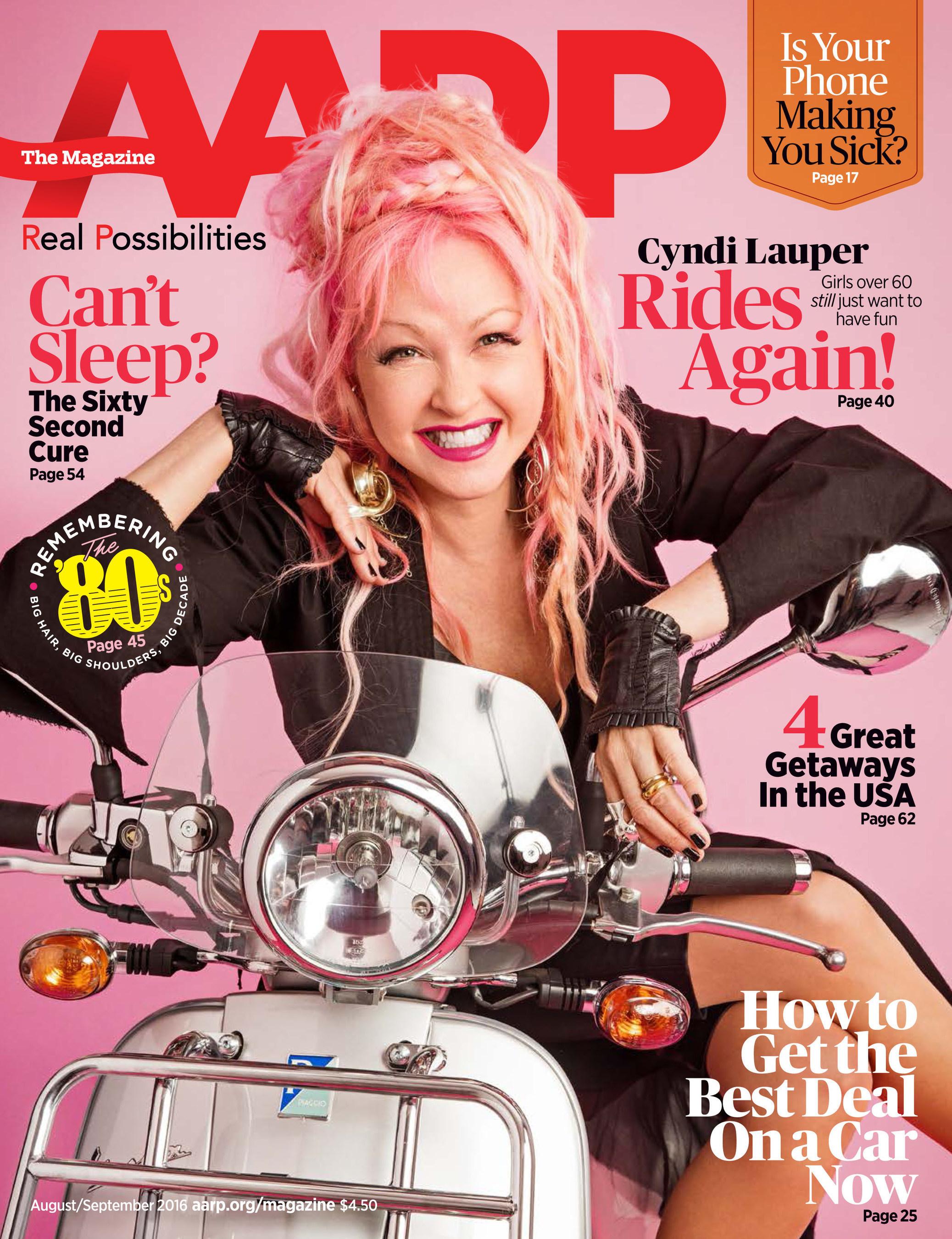 AARP The Magazine - Cyndi Lauper Cover
