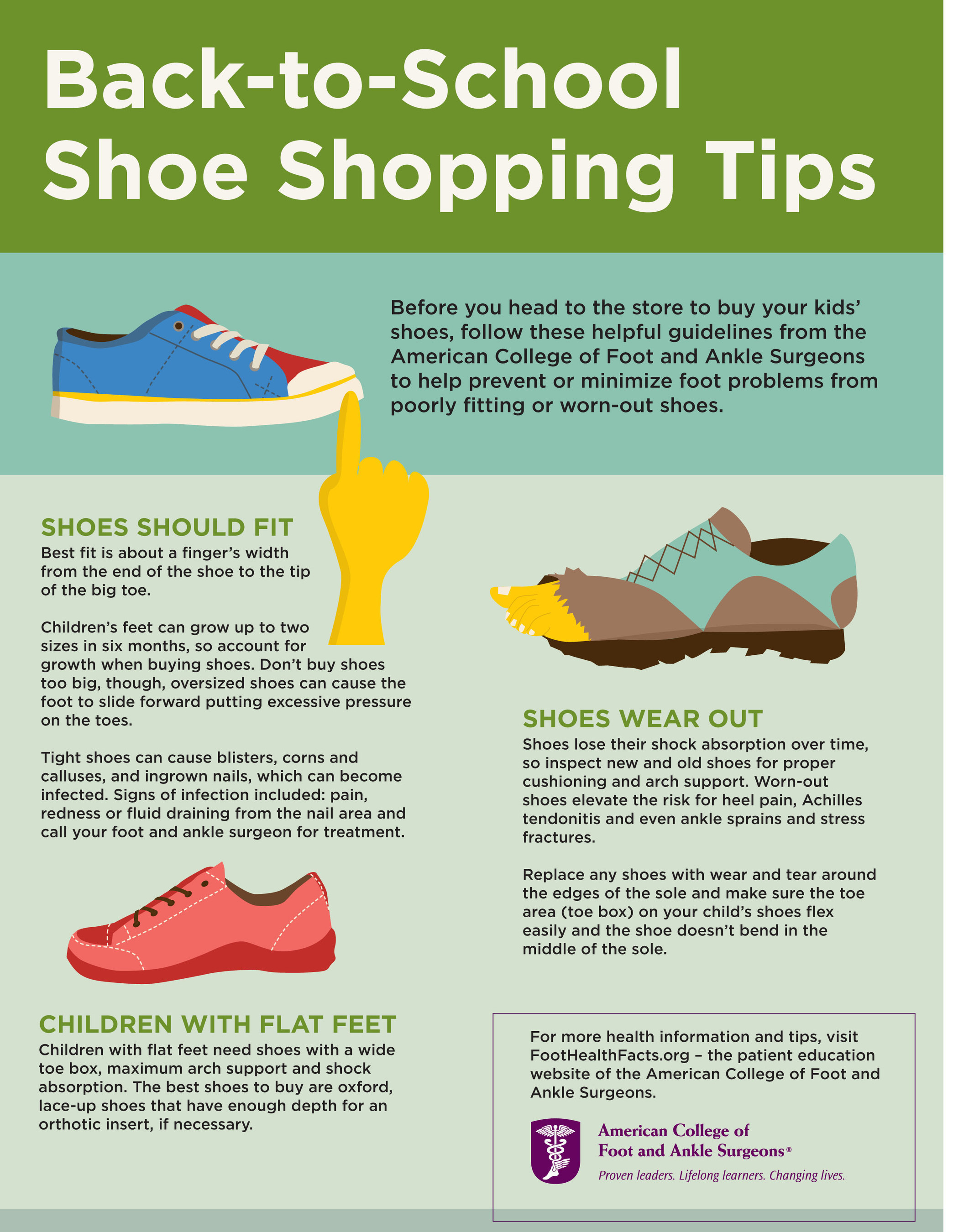 Parents: School's almost in session - get your Back-to-School Shoe Shopping Tips for your kids from the experts, foot and ankle surgeons.
