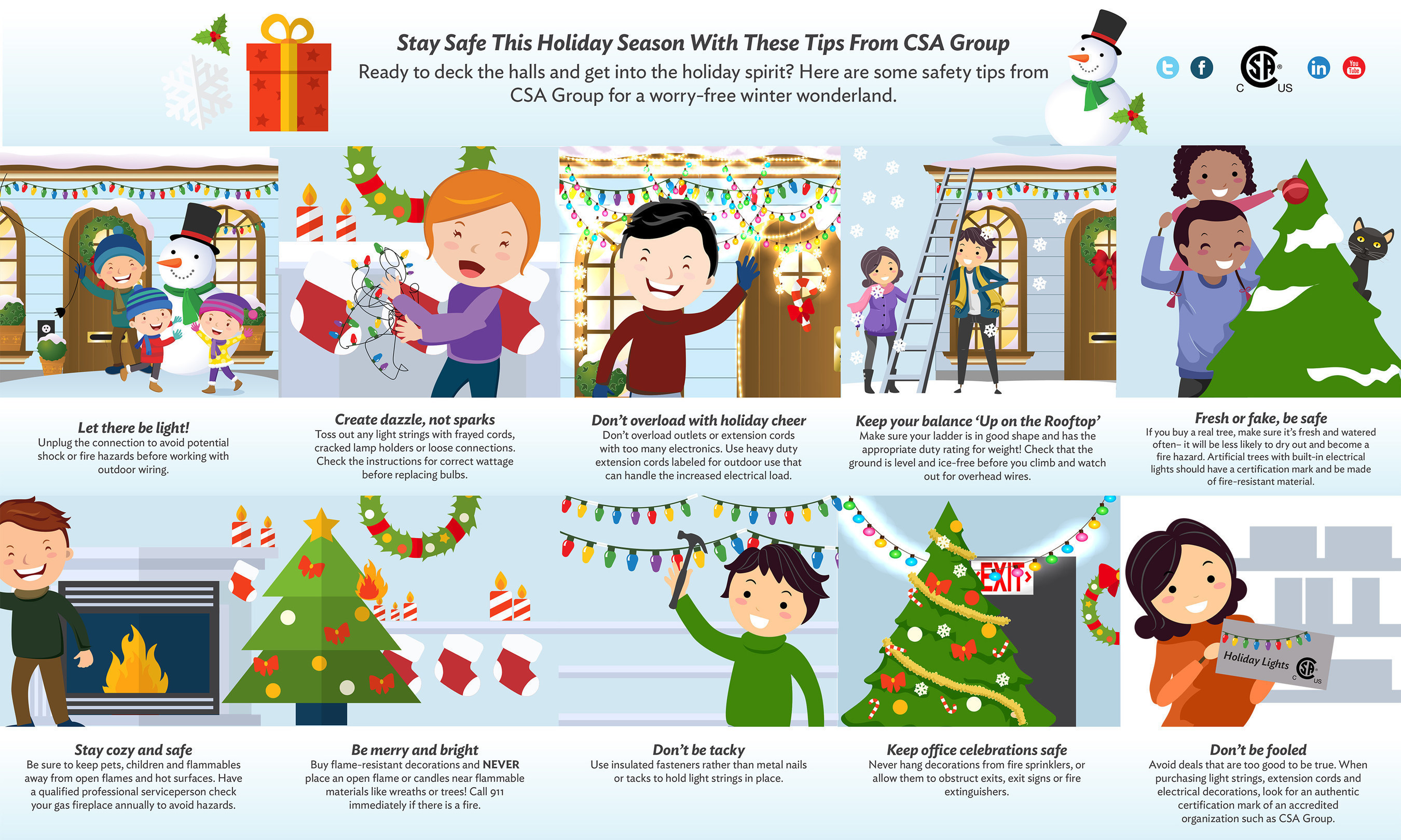 Help make holiday decorating merry, not scary