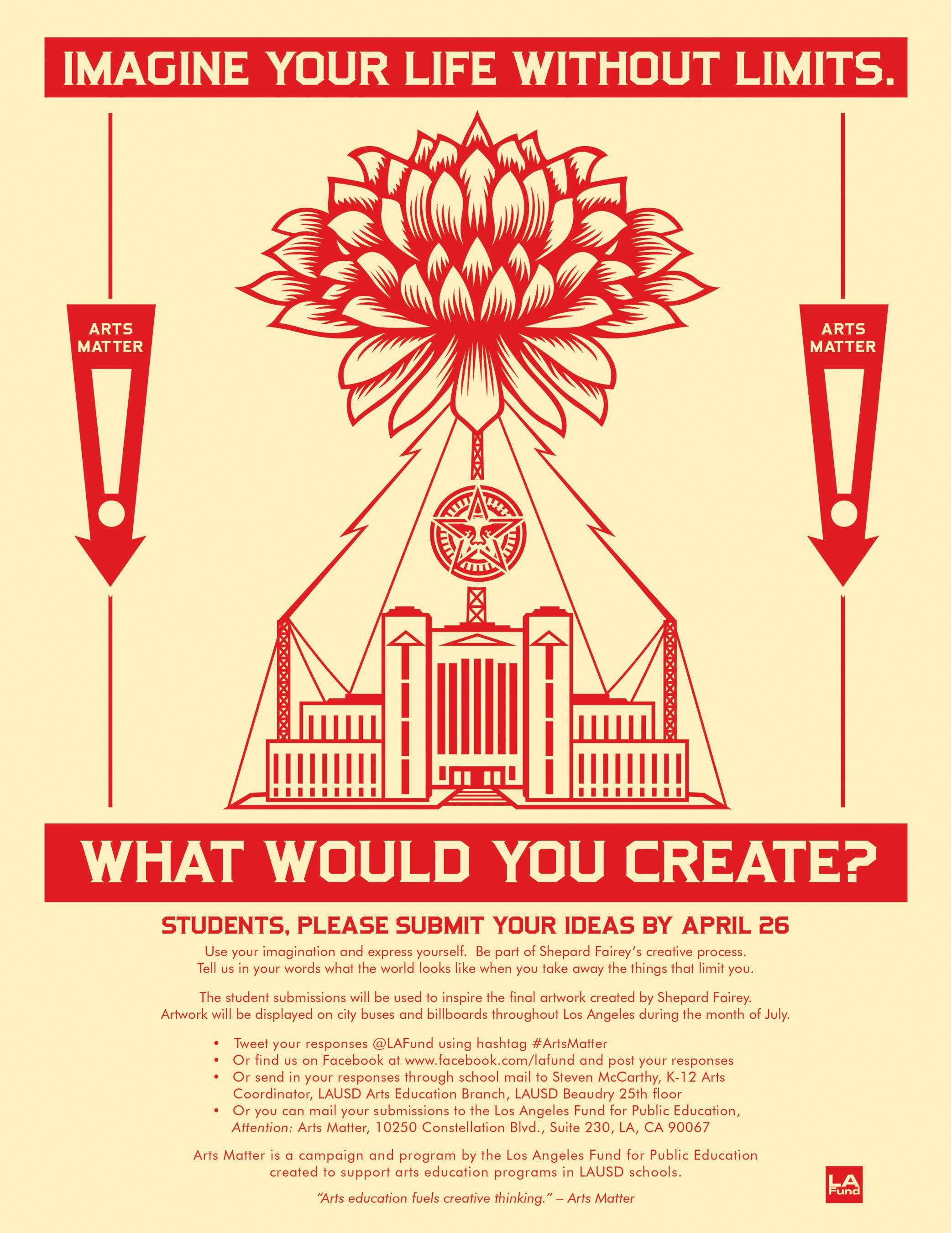 Artist Shepard Fairey Invites LA Students to Collaborate in Campaign