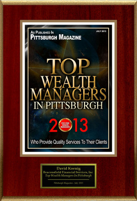 "David Koenig Selected For ""Top Wealth Managers In Pittsburgh"".  (PRNewsFoto/American Registry)"