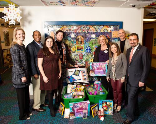 Sebastian Ferrero Foundation Holiday Toy Donation Drop Off at UF Health Shands Children's Hospital. (PRNewsFoto/Sebastian Ferrero Foundation) (PRNewsFoto/SEBASTIAN FERRERO FOUNDATION)