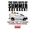 Kokomo Auto World is donating $1 to the Kokomo Humane Society for every new Like on its Facebook page as part of the Dog Days of Summer are Back campaign. (PRNewsFoto/Kokomo Auto World)