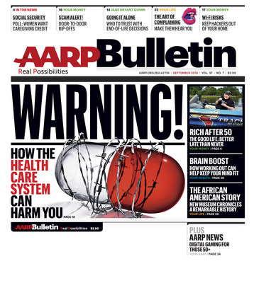 AARP Bulletin Cover - September 2016 Issue