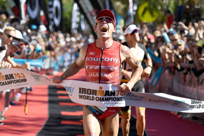 Hometown Hero: Tim Reed (AUS) outsprints Sebastian Kienle (GER) for IRONMAN 70.3 World Championship title on the Sunshine Coast of Queensland, Australia