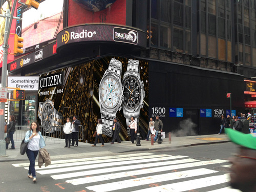 Under Construction 1500 Broadway. Citizen Watch's first North American Retail Concept Store. (PRNewsFoto/Citizen Watch Company)