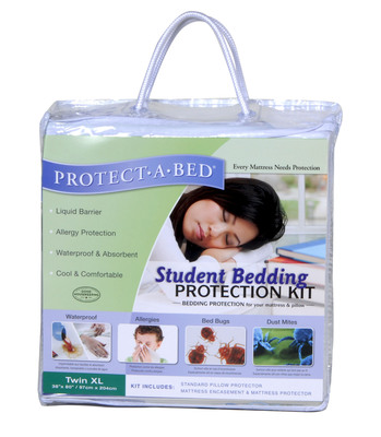 Protect-A-Bed's Student Bedding Protection Kit helps fight potential bed bug infestations in college dorms. (PRNewsFoto/Protect-A-Bed)