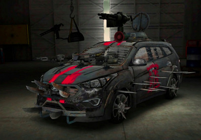 Hyundai And The Walking Dead Bring Fan-Designed Zombie Survival Machine To Life.  (PRNewsFoto/Hyundai Motor America)