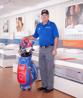 PGA TOUR pro golfer Kenny Perry joins forces with Tempur-Pedic, the official mattress of the PGA TOUR, has joined forces for the Tempur-Pedic Golf Sweepstakes. A 21-time winner, Perry is a Tempur-Pedic mattress owner, and he visited Lexington, home of Tempur Sealy headquarters, Sept. 18, 2014 to launch the sweepstakes. (PRNewsFoto/Tempur Sealy International, Inc.)