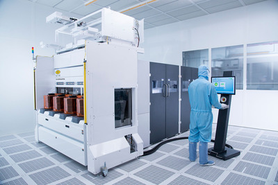 Dow Corning joins EV Group's open platform for temporary wafer bonding materials for 3D-IC manufacturing.  Shown here is an EVG(r)850 XT Frame automated production temporary bonding and debonding system.  (PRNewsFoto/EV Group)