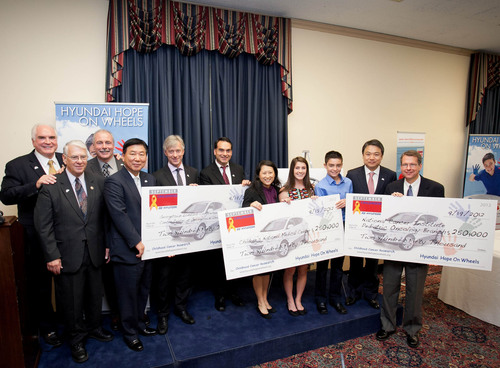 Hyundai, Congressional Leaders And Local Children's Hospitals Join Together In The Fight Against