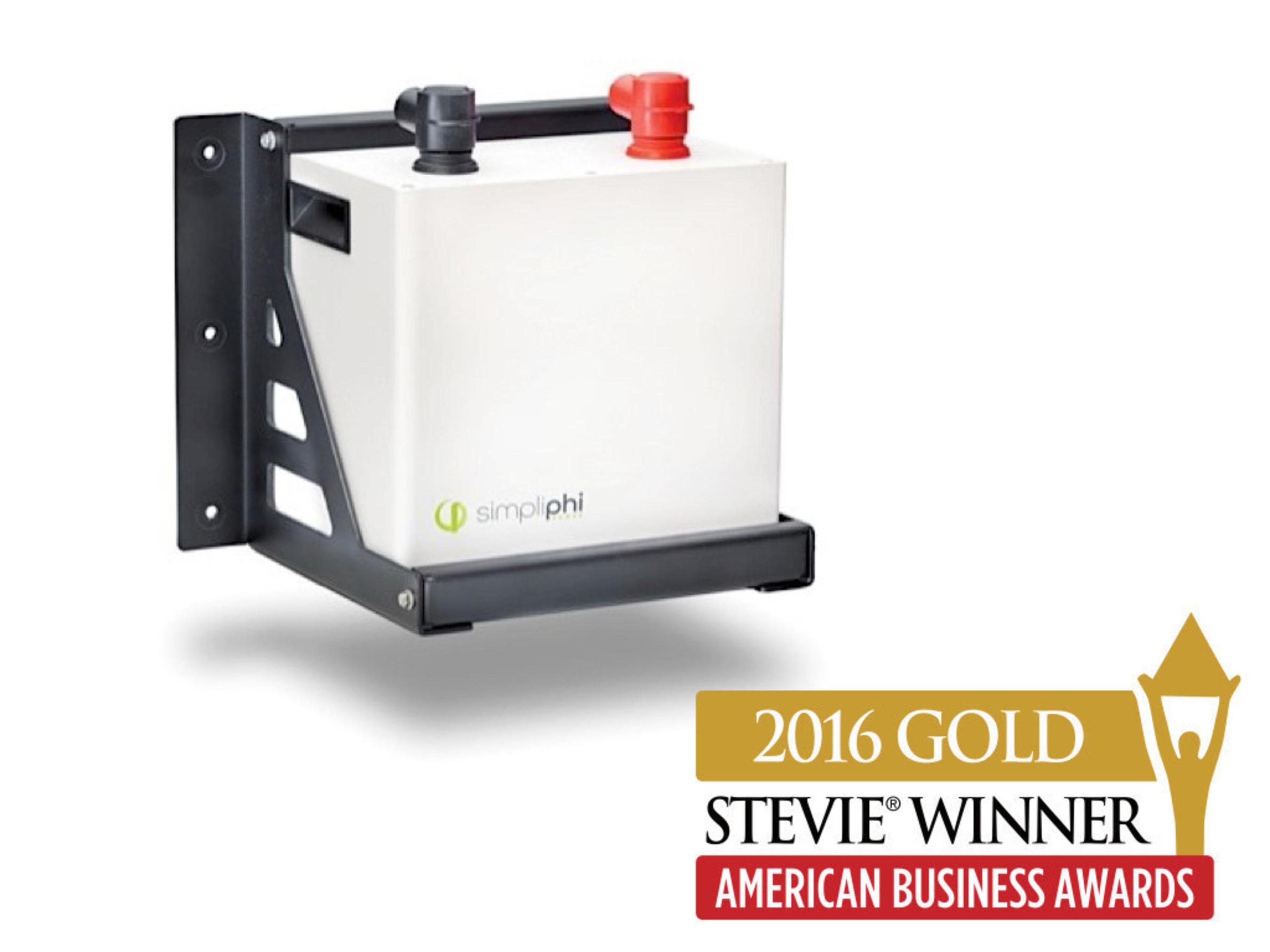 SimpliPhi Power Wins Gold Stevie Award in 2016 American Business Awards