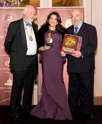 From left to right John Netting Europe Business Assembly Director General UK_ Vandana Gandhi Founder and CEO British Orchard Nursery and Dr Vincenzo Costigliola (PRNewsFoto/British Orchard Nursery) (PRNewsFoto/British Orchard Nursery)