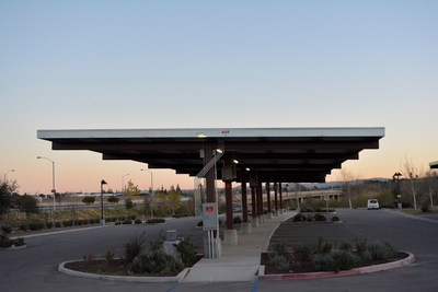 PUHSD's new solar panels will resemble this parking canopy built by OpTerra in Riverside County.