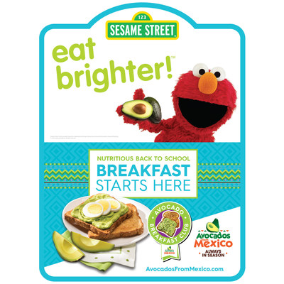 Shoppers can find Avocados From Mexico's new breakfast promotion through colorful in-store signage and displays.