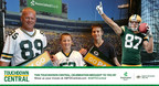 Packers fans celebrate their touchdown with Jordy Nelson in Associated Bank's Touchdown Central sweepstakes.
