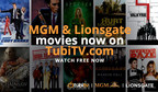 MGM and Lionsgate now available on TubiTV.com! Watch FREE now!