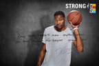 """KIND Healthy Snacks (KIND) and NBA star Kevin Durant unveil movement to show it's strong to be kind(TM). Partnership looks to change perceptions of strength and kindness, and to rally Americans to stand up. """"Being strong doesn't mean anything unless you have respect for everyone around you,"""" says Durant. (Photo courtesy of KIND Healthy Snacks).  (PRNewsFoto/KIND Healthy Snacks)"""