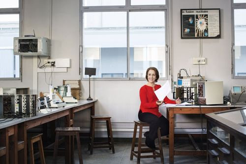 Professor Rajaa Cherkaoui El Moursli, Laureate of the 2015 L'Oreal-Unesco For Women in Science Award. Photo  ...