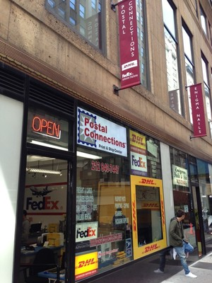 Manhattan Postal Connections Store Recognized as #1 DHL U.S. Retail International Shipper for Second Year Running (PRNewsFoto/Postal Connections of America)