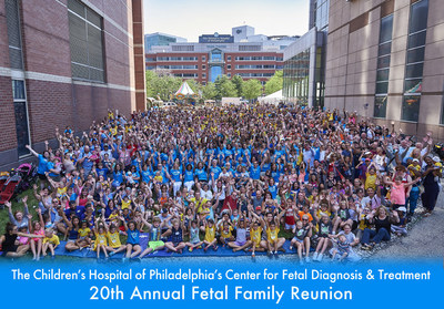 The Children's Hospital of Philadelphia's 20th Annual Fetal Surgery Family Reunion Gathers Families from Across the U.S.
