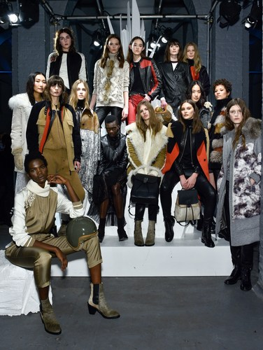 Belstaff at London Fashion Week,Winter 16 Collection, Group Model Shot (PRNewsFoto/Belstaff) ...