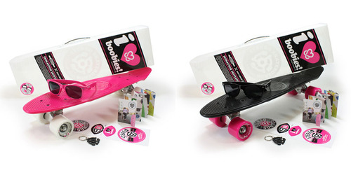 Stereo KAB Pink/Black and Pink/White Collab Cruisers.  (PRNewsFoto/Krush Inc.)