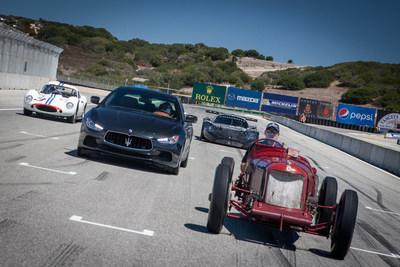 Past and Present ride together at Rolex Monterey (PRNewsFoto/Maserati North America, Inc.)
