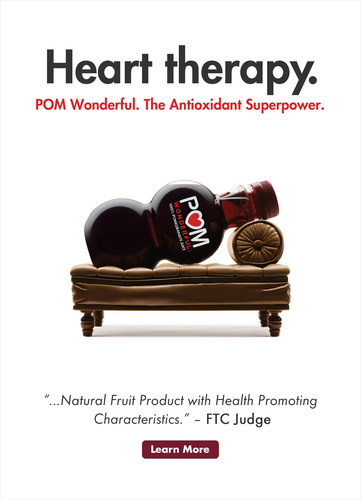 "POM Wonderful ""Heart Therapy"" Advertisement.  (PRNewsFoto/POM Wonderful)"