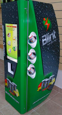AVT manufactured Blint Automated Self Service Protein Drink Kiosk.