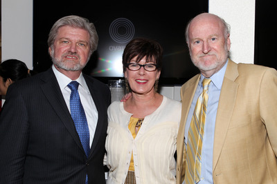 Robert L. Lynch, CEO of Americans for the Arts; Gaynor Strachan Chun, SVP of Marketing, Ovation; and Rocco Landesman, Chairman, National Endowment for the Arts.  (PRNewsFoto/Ovation)