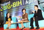 Mr.Jirabool Vittayasing, Secretary General of The Thai Lifestyle Product Federation (Right) and Mrs. Nuntawan Sakuntanaga, Director-General of Department of International Trade Promotion (Center) preside over BIG+BIH April 2012 press conference.  (PRNewsFoto/The Department of International Trade Promotion)