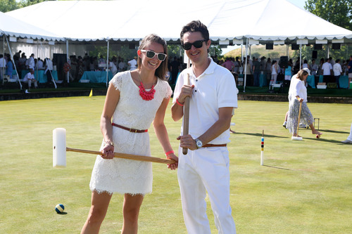 Sonoma-Cutrer winery hosted croquet for guests of the Wishes in Wine Country event which raised $773,000 for ...