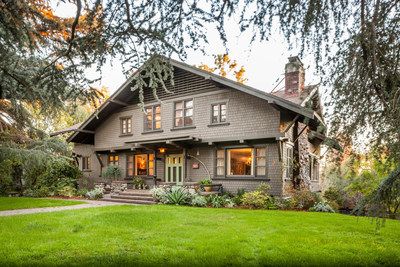 Listed by Kevin Bourland of John Aaroe Group at just under $3 million, the Chalet Style estate was built by the Greene brothers for Lucretia Garfield, widow of assassinated President James A. Garfield. Long a South Pasadena Cultural Heritage Landmark, it's been lovingly renovated and restored by its current owner.