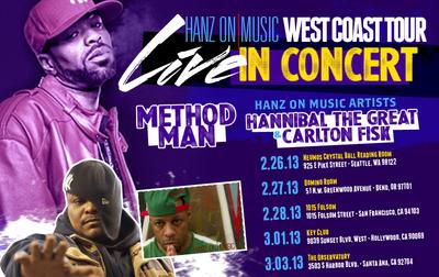 Hanz On Music West Coast Tour Announcement.  (PRNewsFoto/Hanz On Music)
