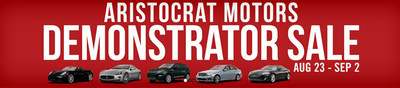 Take advantage of deep discounts on select premium vehicles now at Aristocrat Motors (PRNewsFoto/Aristocrat Motors)